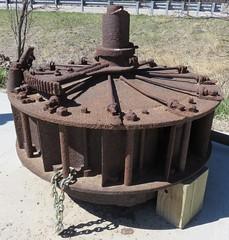 Old Mill Turbine (Buffalo County, Nebraska) (courthouselover) Tags: nebraska ne buffalocounty