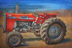An Old Massey (jta1950) Tags: old texture field vintage antique wheels tires machinery masseyferguson