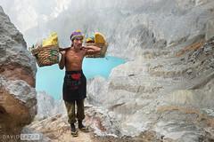 Sulfur Miner in Mt Ijen2 (David_Lazar) Tags: indonesia volcano sulfur miner ijen
