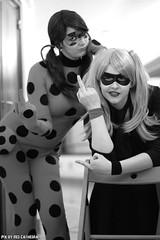 Rock & roll attitude (Red Cathedral [FB theRealRedCathedral ]) Tags: noiretblanc zwartwit cosplay sony rollerderby ladybug alpha harleyquinn larp noirblanc redcathedral bifff a850 eventcoverage sonyalpha brusselsinternationalfestivaloffantasticfilm aztektv becosplay miraculoustalesofladybugandchatnoir rollerharley