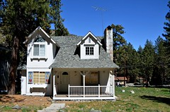Little White House (Pedestrian Photographer) Tags: california ca chimney white house wrightwood cali real march mar estate shingles property porch ribbet 2016 1374 dsc0195 dsc0195b