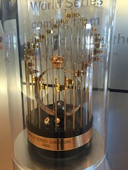 The 1986 World Series trophy won by the NY Mets (Hazboy) Tags: new york nyc ny game field baseball queens april trophy mets citi 2016 hazboy hazboy1