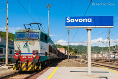E.656.464 TI (Andrea Sosio) Tags: train italia merci liguria stazione treno trenitalia ferroviedellostato savona 464 e656 caimano nikond60 andreasosio