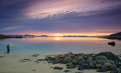 Elgsnes (Explored) (Frank S. Andreassen) Tags: ocean sunset sky beach nature water colors norway clouds frank coast spring colorful calm nordnorge andreassen elgsnes nettfoto