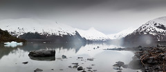 Portage in the Rain (Andy@AK) Tags: lake snow mountains ice alaska spring long exposure panoramic