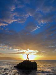 _4050262c (Concert Photography and more) Tags: sunset sea sky white beach beauty landscape puerto maya philippines posing april mermaid galera cloudscape pinoy puertogalera silouhette settingsun whitebeach 2016