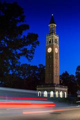 IMG_2400.jpg (mnewberg43) Tags: light sunset tower clock silhouette night canon dark outside lights evening long exposure university time bell hill north chapel 7d carolina unc