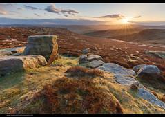 Higgery (Steve-P2010) Tags: sunset evening derbyshire peakdistrict starburst intothesun landscapephotography higgertor copyrightstephenprice