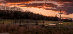Stream at Sunset (SimonBaker5) Tags: bridge sunset panorama stream wiltshire hdr ramsbury