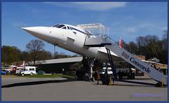 Concorde From The Front Side (bokosphotos) Tags: hand airplanes concorde concord forcedperspective weybridge petrolpump airoplanes brooklandsmuseum gooddayout weybridgesurrey homeofconcord birthplaceofbritishmotorsport