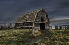 Front and Center (EXPLORED) (Stubble Jumper Photography) Tags: abandoned barn rural farm alberta prairie