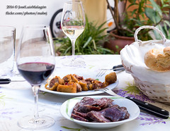 Catas de Vino 2016 (mabej2014) Tags: red espaa woman white cup look bread table mujer spain wine catas vine andalucia meat pan andalusia mirada mesa vino salchichn flamenqun loinroll