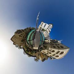 Downtown Dubai Panorama (jeglikerikkefisk) Tags: panorama downtown dubai pano uae 360 sphericalpanorama vae kugelpanorama littleplanet downtowndubai burjkhalifa sphrischespanorama