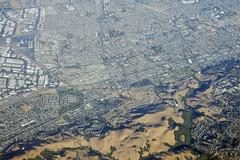 Aerial view of the Hayward Fault, Hayward, Alameda County, California (cocoi_m) Tags: california nature boulevard aerial hayward geology alamedacounty geomorphology aerialphotograph i880 nimitzfreeway haywardfault