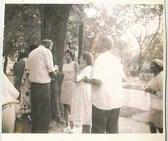 Cropped outdoor friendly gathering-1960 (912greens) Tags: family yards friends outdoors favorites africanamericans 1960s gatherings folksidontknow