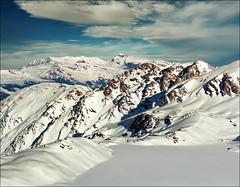 Frozen lake (Katarina 2353) Tags: winter mountain lake snow alps film landscape switzerland nikon swiss verbier katarinastefanovic katarina2353