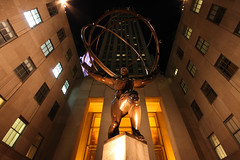 Rockefeller Center - Atlas (lukedrich_photography) Tags: world plaza new york city nyc newyorkcity light usa ny newyork building art history television statue architecture night america canon dark greek nbc us unitedstates metro manhattan unitedstatesofamerica culture rockefellercenter midtown commercial atlas northamerica metropolis rockefeller gotham bigapple metropolitan estadosunidos nuevayork rockefellerplaza leelawrie newamsterdam  megacity tatsunis nationalhistoriclandmark  nationalregisterofhistoricplaces thecitythatneversleeps vereinigtestaaten thecapitaloftheworld empirecity johndrockefellerjr        t1i canont1i lavilledenewyork
