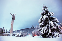 Winter Shumen/Bulgaria! (Hasan Yuzeir) Tags: christmas winter sky snow cold tree monument d50 nikon bulgaria shumen hasanyuzeir