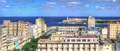 CUBA La Habana Vieja IV (stega60) Tags: street blue houses sea sky panorama clouds calle cuba vieja paseo cielo prado blau casas hdr stiched lahabana stega60