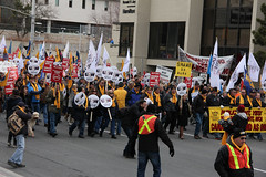 IMG_5667 (United Steelworkers - Metallos) Tags: canada labor demonstration solidarity labour unions usw unitedsteelworkers canlab standupforsteel hamontrally