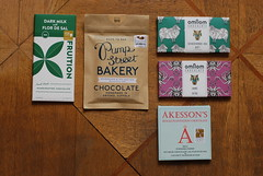 Salted Chocolate Selection (miss_yasmina) Tags: food blog chocolate tasting milkchocolate salted darkchocolate fruition omnom akessons pumpstreetbakery