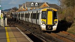 387126 (JOHN BRACE) Tags: white station class emu seen derby built bombardier 387 thameslink livery 2014 horley electrostar 387126