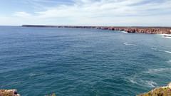 View from Promontorio de Sagres (daniel EGV) Tags: ocean sea mer beach portugal water seaside sable cliffs atlantic algarve plage sans falaises sagres altantique