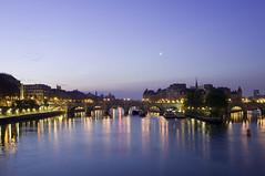 Paris du Pont des Arts - Night 2 (christineXVIII) Tags: city blue paris france night nikon long exposure nuit d300 500px ifttt