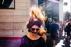 Las Vegas, USA (Davide Albani) Tags: street leica las vegas people woman usa streets hair wind candid streetphotography mp unposed streetcolor