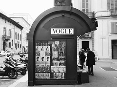 """VOGUE Newsstand"" (giannipaoloziliani) Tags: street city urban blackandwhite italy streetart milan walking strada milano centre centro newspapers citylife streetphotography style motors urbanart peoples persone vogue newsstand metropolis streetphoto biancoenero citta elegance edicola giornali urbanstreet vogueitalia metropoli dolceegabbana camminando urbanstyle milancity voguecollections dolceegabbananewsstand vogueeditions styleefitions"