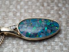 Opal necklace (James E. Petts) Tags: macro necklace jewellery opal