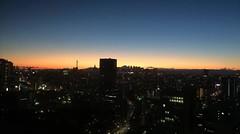 日没の富士山 (ishizima) Tags: city sunset urban japan tokyo timelapse time lapse 文京シビックセンター展望ラウンジ
