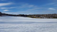 The beautiful snow field we skied around