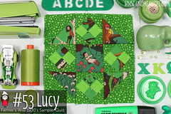 gnomeangel-farmers-wife-1930-block-53-lucy (gnomeangel) Tags: modern quilt quilting patchwork tutorial farmerswife fussycutting gnomeangel fussycuttersclub farmerswife1930