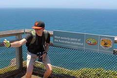 Easterly Point Selfie (Piedmont Fossil) Tags: ocean sign pacific glenn australia capebyron