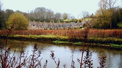 Arlington Row (DIGITAL) (SallehS) Tags: uk england village cotswolds bibury lateautumn