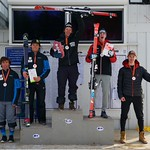 National U18 Championships GS Men's Podium - Kirshenblatt 1st; Luel 2nd; Cochrane 3rd; Kendig 4th; Grabinski 5th (PHOTO CREDIT: Martin Tichy