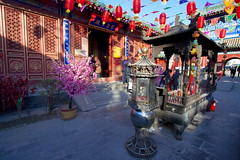 Fire God Temple Beijing - incense burner (Bruce in Beijing) Tags: history temple religion beijing culture traditions daoist taoist incenseburner springfestival shichahai qianhai xicheng templearchitecture jaderiver firegodtemple huodezhenjuntemple