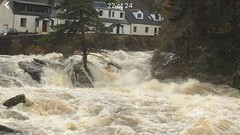 The Falls of Dochart after the recent very heavy rain as a result of Storm Abigail.