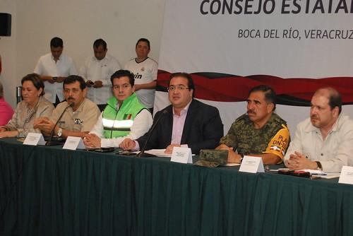 El gobernador Javier Duarte presidió la reunión extraordinaria del Consejo Estatal de Protección Civil