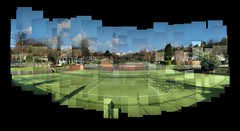 Tennis Courts Photomontage (ldjldj) Tags: park nottingham collage estate tennis montage photomontage courts hockney joiner nottinghamshire panograph