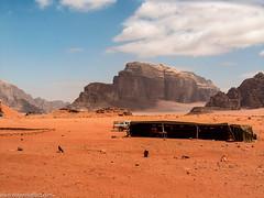 Wadi Rum (donscara) Tags: road travel mountain nature landscape desert wadirum middleeast 2006 tent jordan wadi photooftheday instagram