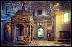 Sant'Alessio (Facciamo2Scatti) Tags: roma lowlight blu basilica vaticano chiesa finestra giallo colori antico affreschi luce interno sacro santalessio aventino storia altare facciamo2scatti alessiobrinati