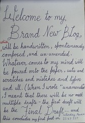 Welcome (sourav00) Tags: handwriting cursive