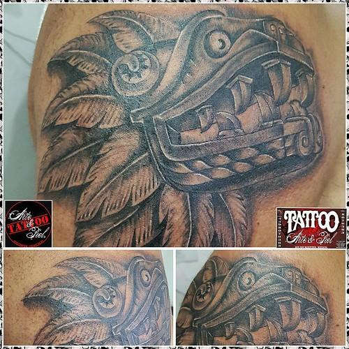 Tatuajes En El Brazo Sombras quetzalcoatl #serpienteemplumada #blackandgrey #sombras #brazo