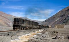 Is there a locomotive under all that dirt? (david_gubler) Tags: chile train railway llanta potrerillos ferronor