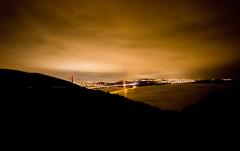 City in the Distance (Thomas Hawk) Tags: bridge sky night clouds fav50 marin goldengatebridge marinheadlands fav10 fav25 fav100 photowalking photowalking100907 photowalking10092007
