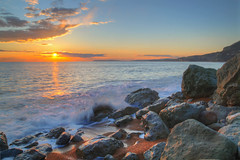 Rocken End (keithjherbert) Tags: uk sunset england sky beach canon isleofwight hdr eos500d
