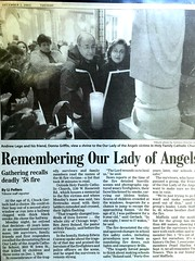 Every year on December 1 Survivors family,and friends get together for a Mass. (Chicago Rail Head) Tags: 1958 inmemoryof chicagoil holyfamilycatholicchurch ourladyofangelsfire everydecemberfirst massfordeadandsurvivors 95children3nuns