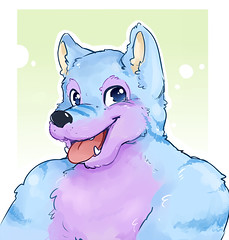 I got this really really cute picture by Danuska as a gift ^-^ Thank you so much! (Keenora Fluffball) Tags: furry kee fursuit keenora